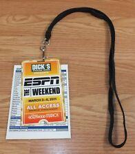 Disney's Hollywood Studios The ESPN Weekend All Access 2011 Card & Lanyard *READ
