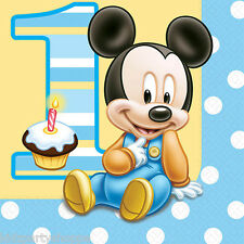 Disney Baby Mickey Mouse Luncheon NAPKINS 1st Birthday Party Supplies Tableware