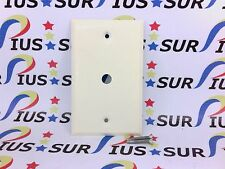 NSOP Ivory Metal Light Dimmer Phone Cable Cover Face Wall Plate .375 Hole 1 Gang