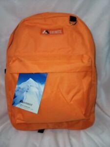 Everest Luggage Basic Backpack,Orange  Medium