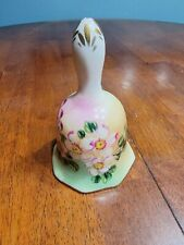 Vintage Limoges China Porcelain Bell With Flowers, Gold Trim & Accents
