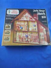 Vintage 1974 Holly Hobbie Craft Farm House Hutch Kit No. 707 Friends Industries