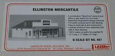 "American Model Builders O #487 Ellington Mercantile -- 12 x 11 x 6"" / Laser Kit"
