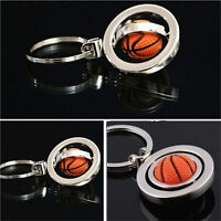 Sale 3D Sports Rotating football soccer Keychain Keyring Key Chain Ring KeyH_ti