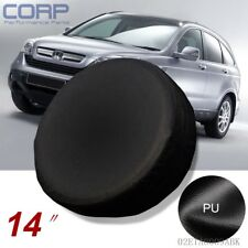 """New 14"""" Inch Spare Tire Cover Wheel Protector Covers For CRV SUV RAV4 Black"""