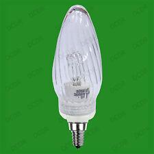 28W à variation Halogène Transparent Tordue Ampoule Type Bougie SES E14