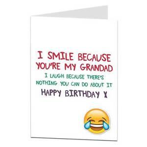 Happy Birthday Card For Grandad