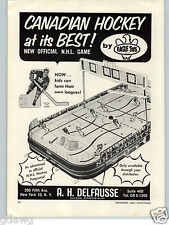 1965 PAPER AD A H Delfausse Eagle Toys NHL Stanley Cup Hockey Game New Official