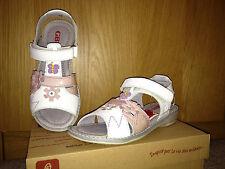 GBB Finette Girls Leather Sandals, White,30 EU (US Little Kid 12 M)