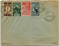 1911 Cinquantenario dell'Unità d'Italia Serie Completa 4 Valori su Busta Regno