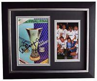 Steve Perryman SIGNED 10x8 FRAMED Photo Autograph Spurs 1984 UEFA Cup final COA