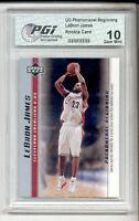 LeBron James 2003 PHENOM #3 Set PGI 10 Rookie Card  Lakers