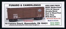 Funaro F&C 6583  NEW YORK CENTRAL 1912 36' NYC Boxcar Murphy Metal Roof  1-PIECE