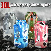 30L Dry Carry Bag Waterproof Storage Swimming Backpack Pouch Boat Kayak Camping