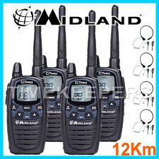 12km MIDLAND g7 PRO DUAL BAND Walkie Talkie Radio a due vie Sci & Go Kart 4