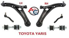 TOYOTA YARIS  2 x FRONT LINKS + TRACK ROD ENDS + LOWER WISHBONE ARMS 1999-05