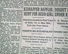ALBERT FISH Serial Killer Child Rapist Cannibal KIDNAPS Grace Budd1928 Newspaper