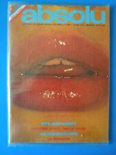 CLAUDE FRANCOIS REVUE MAGAZINE REVUE ABSOLU No 1 RARE 1974