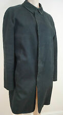 BURBERRY LONDON Menswear Charcoal Grey Black 100% Cotton Trench Rain Mac Coat 50