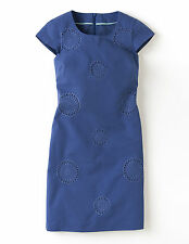 BNWT Boden Embroidered Shift Dress UK 6 R (US 2, EU 32 34) Mid Blue