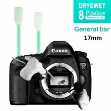 8PCS CMOS CCD SWAB Dry + Wet Cleaner Kit 17mm For Canon Nikon Sony Camera & lens