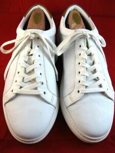 """NEW Allen Edmonds """"COURTSIDE"""" Men's Leather Sneakers 9 E  White  (595)"""