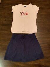 Gap Girls Shirt and Childrens Place Skort 4-5-6
