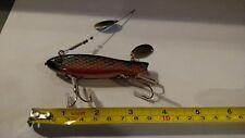 Wooden contemporary glass eyed dowagiac spook type minnow Fishing Lure