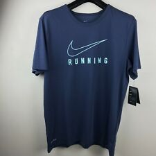 Nike T-Shirt Men's Dri-Fit Graphic Running Size Xl Blue Nwt