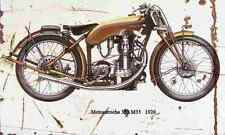 Motosacoche 350 M35 1926 Aged Vintage SIGN A4 Retro