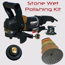 "Stadea Wet Concrete Stone Polisher Angle Grinder 5"" With Diamond Polishing Pads"