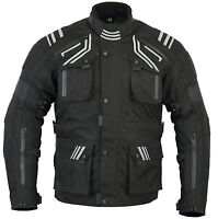 NEW VELOCITY CE ARMORED MOTORCYCLE WATERPROOF TEXTILE WINTER JACKET