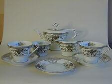 Beautiful Vintage Noritake  Art Deco 'Tea for Two' white & silver