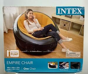 Intex Inflatable Empire Chair, Modern and Soft Contour Seat, Water Base