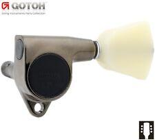 GOTOH SG301-P4N Guitar Tuners 3x3 w/ Ivory Keystone Buttons L3+R3 - COSMO BLACK