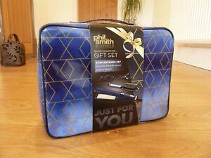 Phil Smith Be Gorgeous Hair Straightener Gift Set,Folding Brush & Mirror Clips