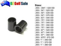 "4pcs .355"" Taper Tip Premium Golf Club Iron Ferrule Ferrules - 16 Sizes - Black"