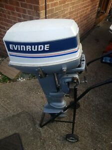 Evinrude 25hp outboard engine long shaft on remotes running well