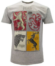 T-shirt Il Trono di Spade le 4 casate grigio