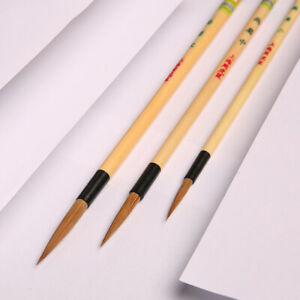 3pc Chinese Traditions Calligraphy Painting Writing Brush Copybook Copy Tool