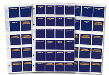 Pre-1997 50p and £2 , and Pre-2017 £1 Collection Pages [Ref 590X]