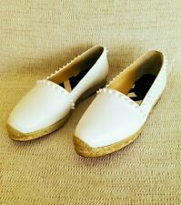 CHRISTIAN LOUBOUTIN ARES WHITE 40 10 LEATHER ESPADRILLES   WOMAN SHOES SUMMER
