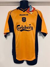 """Vintage Liverpool FC Reebok 2000/2001 Jersey NEW WITH TAGS Rare Find 34""""/86cm"""