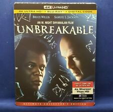 Unbreakable (4K Ultra Hd + Blu-ray + Digital, 2000, New) Bruce Willis