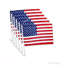 "6pcs  USA AMERICAN Car Flag Patriotic Car Truck Window Clip Flag 18""x12"""