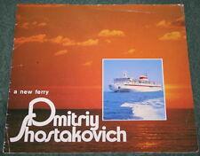 Vtg Marine Booklet Cruise Liner DMITRIY SHOSTAKOVICH New Imperial Star Ship USSR