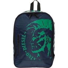 DIESEL Backpack, Blue & Green, Laptop Sleeve, 40 x 27 x 12 cm