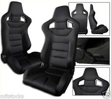 1 PAIR BLACK CLOTH RACING SEATS RECLINABLE FIT FOR ISUZU NEW