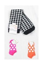 Women's NWT Alfani  Spectrum 3 Pair of Socks-Polka Dot and Houndstooth Sz 9-11