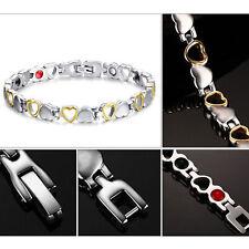 Magnetic Energy Germanium Power Bracelet Health 4in1 Bio Armband TITANIUM Silver